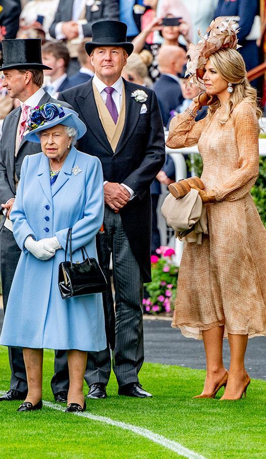 Queen Elizabeth with King Willem-Alexander and Queen Maxima of The Netherlands