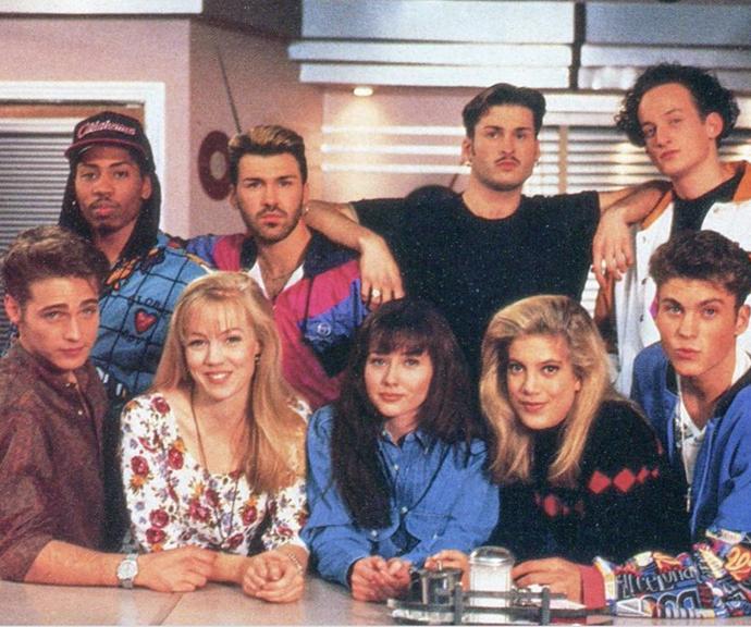*90210* shot Brian, bottom right, to stardom.