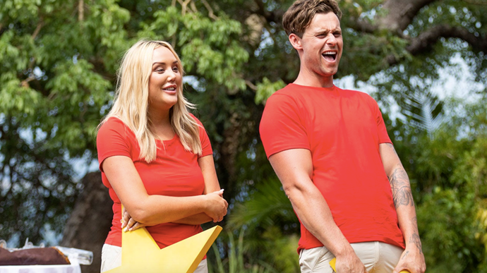 **Ryan Gallagher and Charlotte Crosby** <br><br> Reality stars Ryan Gallagher and Charlotte Crosby instantly connected on 2020's season of *I'm A Celebrity*. It wasn't hard to see why - these two were well acquainted with, um, on-screen hookups.