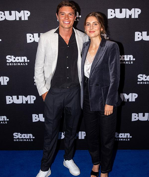 The glamorous rising stars strike a pose at the premiere of *Bump* in Sydney last December.
