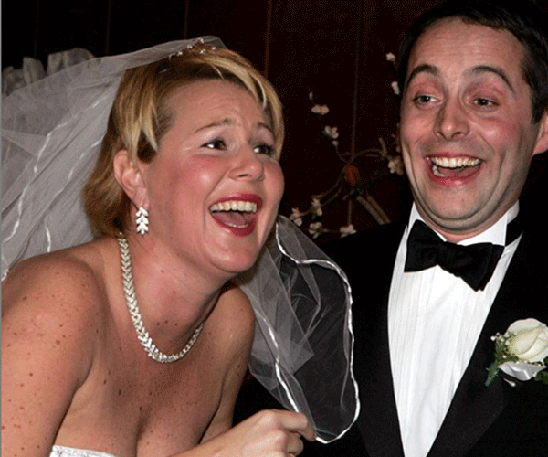 Julia and Dan got married in Vegas in 2005.