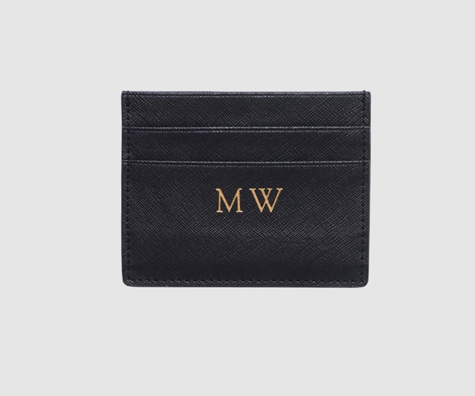 Monogrammed leather goods are so chic.