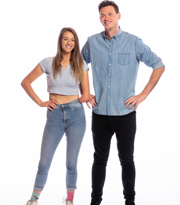 """**Skye-Blue and Jake, VIC** <br><br> Do these siblings have what it takes to win the grand prize?<br><br> """"I will always push and I will always achieve everything I set my mind to,"""" Skye-Blue, who was born without a left hand, says.<br><br> As for Jake, who comes in at a towering 6'5"""", he believes his height will be a big asset."""