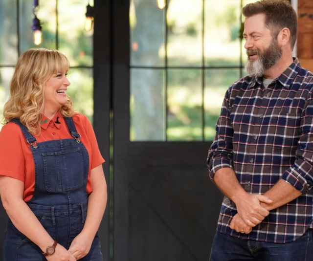 """**Making It Australia**, 10<br> Who will reign supreme when the most skilled craft enthusiasts in Australia face off against each other?<br>  In a wholesome new show from executive producers (and Parks And Recreation stars) Nick Offerman andAmy Poehler (both below), contestants, or """"makers"""", compete in themeddesign challenges to test their skills.<br>  With one contestant eliminated every week, the winner, or Master Maker,will walk away with a hefty $100,000.  <br> Combining light-hearted  fun and a lotof laughs, *Making It* brings the good vibes we need for 2021."""