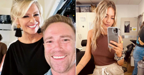Emily Symons and Ditch Davey walk into The Diner... here's a bunch of the best BTS snaps from the Home and Away set this year