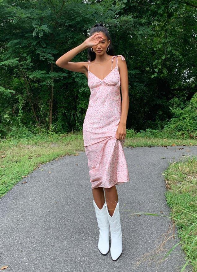 "Princess Polly's The Veronica midi dress, $55. **[Buy it online here.](https://www.princesspolly.com.au/products/the-veronica-midi-dress|target=""_blank""|rel=""nofollow"")**"