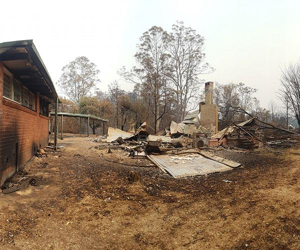 The school was totally destroyed.