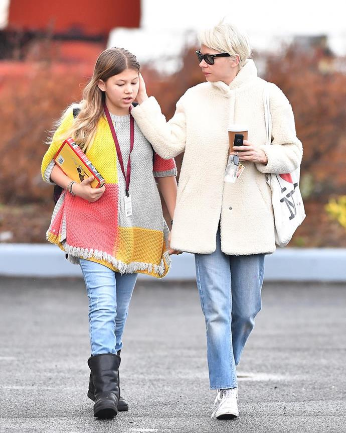 """The 15-year-old became a big sister last year after her mum [welcomed a child with husband Thomas Kail.](https://www.nowtolove.com.au/parenting/celebrity-families/michelle-williams-pregnant-61963