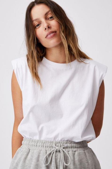 "Cotton On padded muscle tank, $24.99. **[Buy it online here](https://cottonon.com/AU/padded-muscle-tank/9356362121275.html|target=""_blank""|rel=""nofollow"")**"