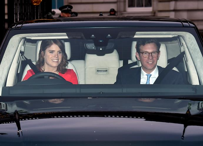 Eugenie and Jack are residing at Harry and Meghan's Windsor home, Frogmore Cottage.