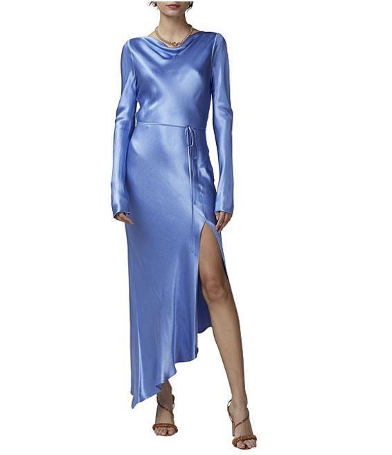 "Bec + Bridge Delphine cornflower long sleeve midi dress, $150. [Buy it online here](https://www.davidjones.com/Product/23417658|target=""_blank""|rel=""nofollow"")"