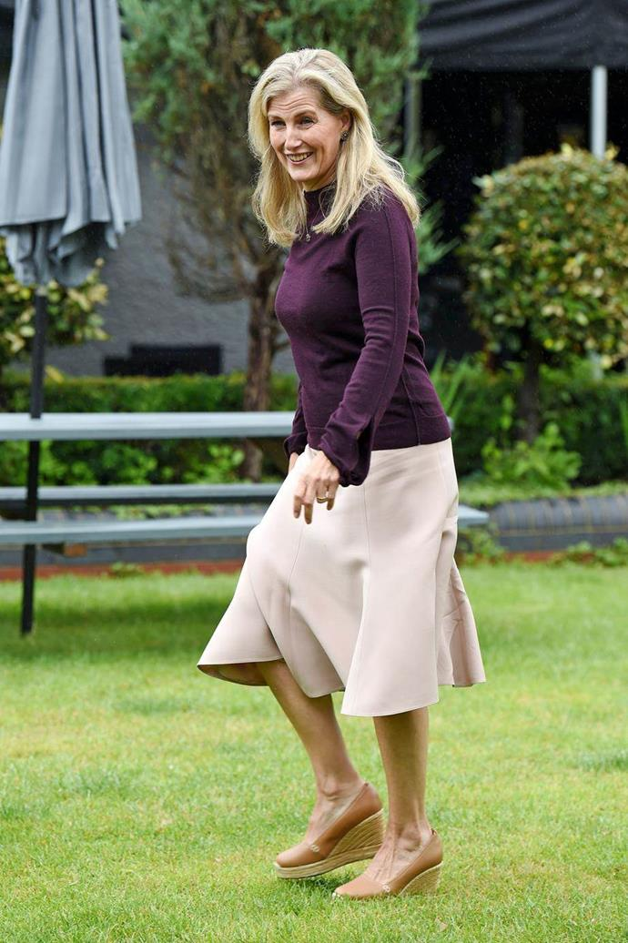 Sophie always brings a refreshing flair to royal fashion.