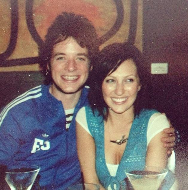 Zoe and Hamish started as mates (pictured here back in 2005)