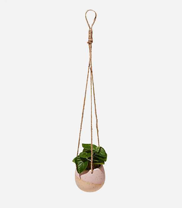 """We all have one friend who is plant-obsessed. Pop a new green baby in one of these adorable hanging pots and voila. <br><br>  *Small hanging Planter Pot, $12.99, [**shop it here.**](https://cottonon.com/AU/sml-hanging-planter-pot/4257033-02.html?dwvar_4257033-02_color=4257033-02&cgid=&originalPid=4257033-02#q=pot&lang=en_AU&start=8