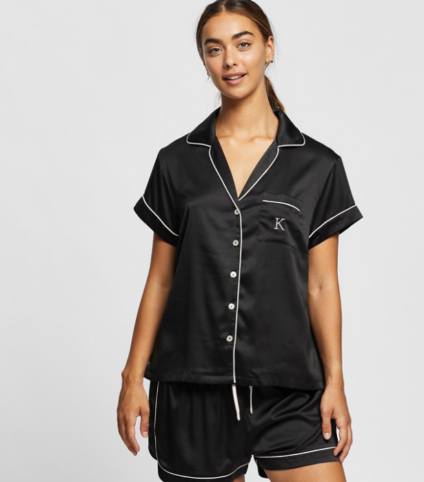 """If you thought you outgrew the matchy-matchy phase, these luxe pyjamas will make you think again. Plus, they come with an embroidered initial for a personal touch (or so you don't get your sets mixed up). <br><br>  *Homebodii Grace PJ Set, $95.95, [**shop it here.**](https://www.theiconic.com.au/grace-pj-set-letter-k-1153838.html