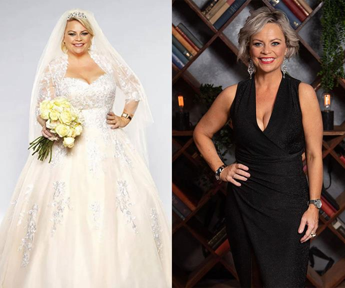 What a transformation: On the left, Foxy Jojo in 2018 and on the right in 2021 for the upcoming *MAFS* All Stars reunion episodes.