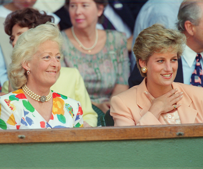 Frances and Diana at Wimbeldon in 1993.