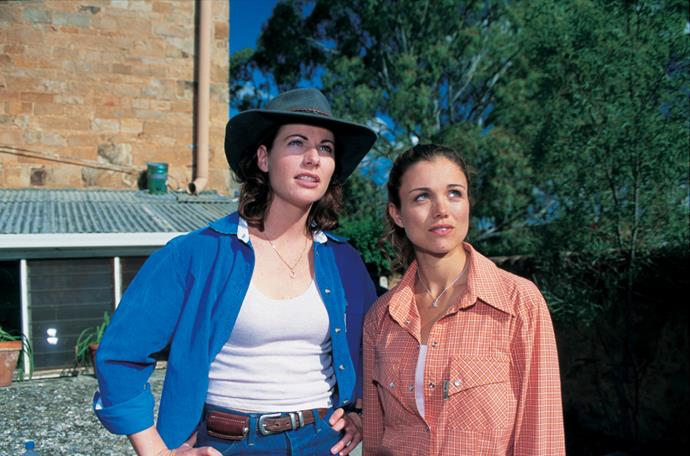 Lisa Chappell and Bridie played half-sisters Claire and Tess on McLeod's Daughters.