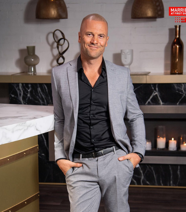 "**Mike Gunner, season six**<br><br> Mike was matched with bride Heidi Latcham but despite more ups and downs than a rollercoaster, the couple didn't make it work. <br><br> These days, Mike is a tattooist based in the Gold Coast and reassured the UK audience watching his season of *MAFS*, ""It's ok, I'm not that bad."""