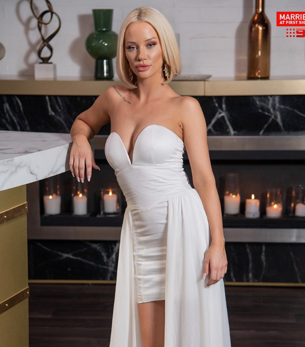 **Jessika Power, season six** <br><br> She was disastrously matched with farmer Mick Gould and went on to be part of an explosive cheating scandal with Dan Webb, but blonde bombshell Jessika didn't find her Mr Right on the show. <br><br> The influencer is now based in the Gold Coast and is dating rapper, Filip Poznanovic.