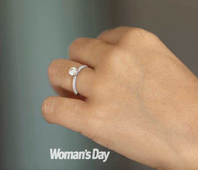 Brad worked with a local jeweller to design Tash's stunning ring