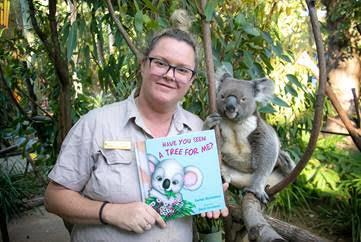 Sarah with her inspiration for 