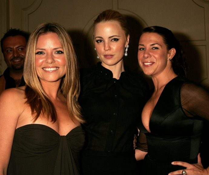 Toni with Summer Bay co-stars Melissa George and Kate Ritchie.