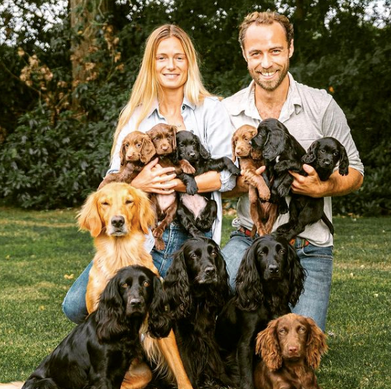 Kate's brother James (pictured) gifted the family one of his latest breeds.