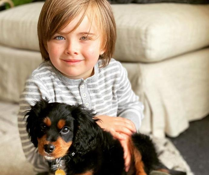 Axel with his beloved pooch Banjo.