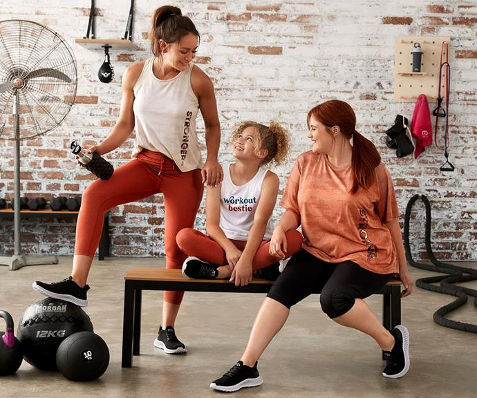 """""""Mums can now twin with their girls and create healthy life habits together,"""" Michelle says of her new MB Active line with Big W."""