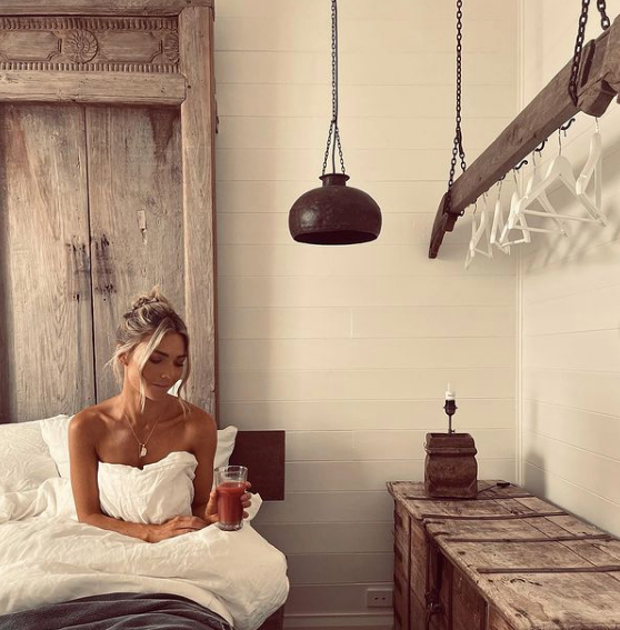 Sam shared a snap from her dreamy Byron Bay accomodation.