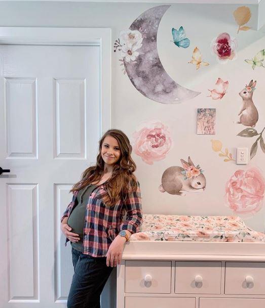 Bindi shared this beautiful image from inside her baby's nursery.