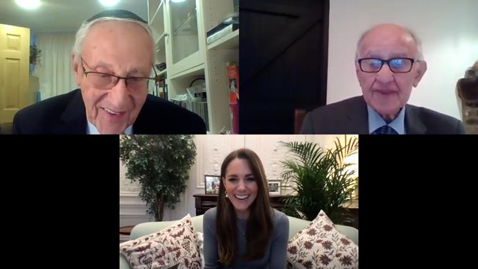 Kate spoke with Zigi Shipper, 91, and Manfred Goldberg, 90 during the stirring call.