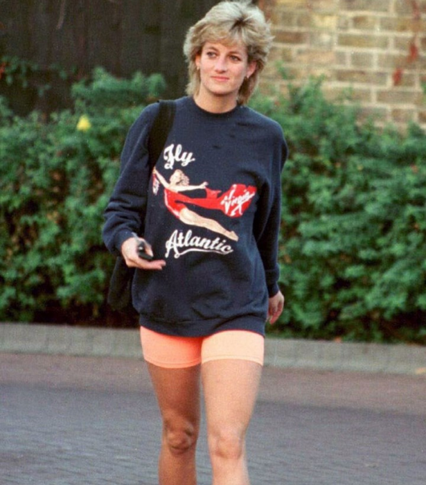 Diana knew how to pull off the athleisure look.