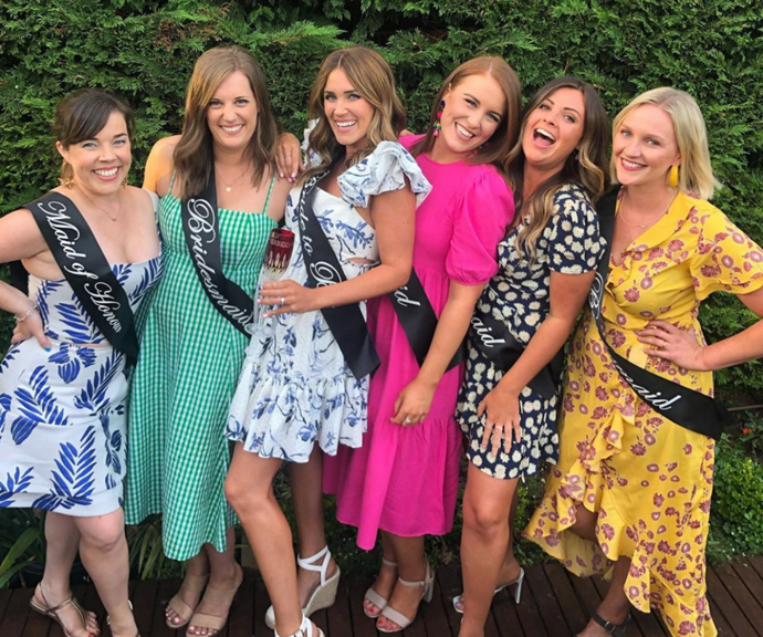 Georgia celebrated her hens party with her closest gal pals. Next stop, the aisle!