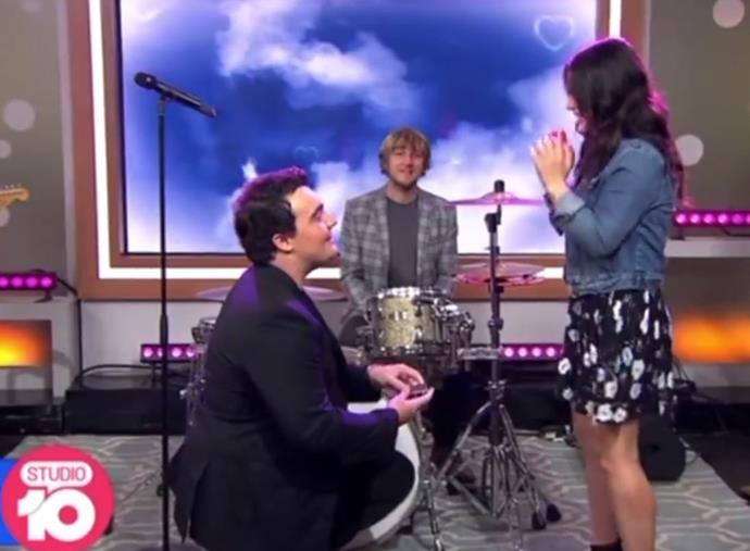 I proposed on TV.