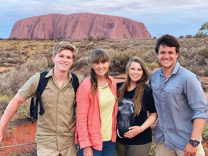 The Irwins recently visited Uluru.