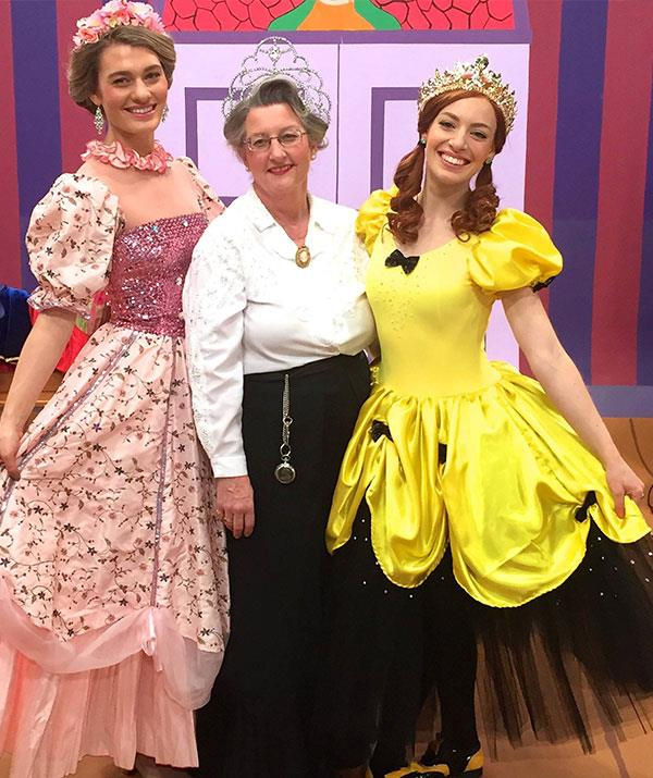 It's a family affair! Hayley, pictured with her mum Kathryn and sister Emma, was a dancer in the 2017 Wiggles TV special *Wiggle Town*.