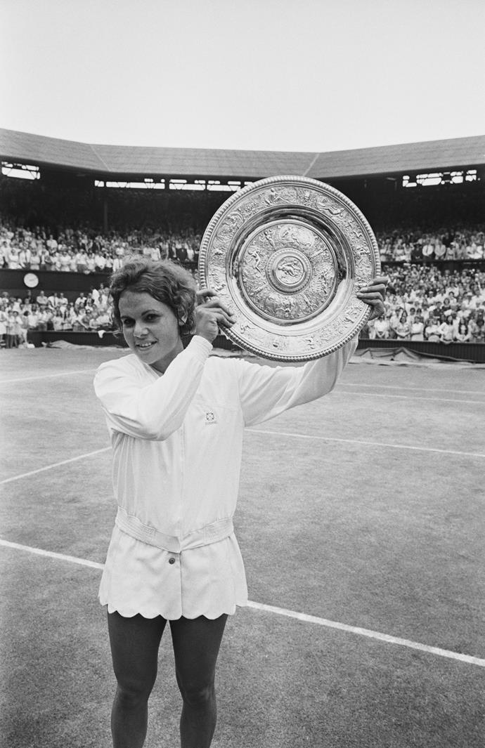 Evonne took out the Wimbledon Women's Singles title in 1971.
