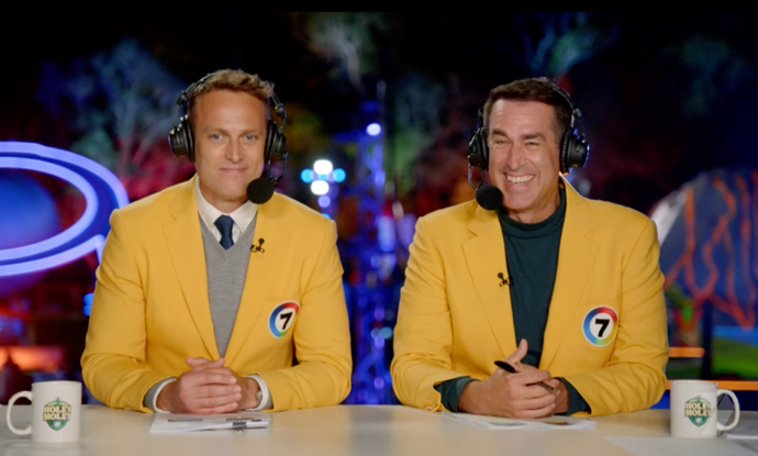The two hosts were actually super chummy.
