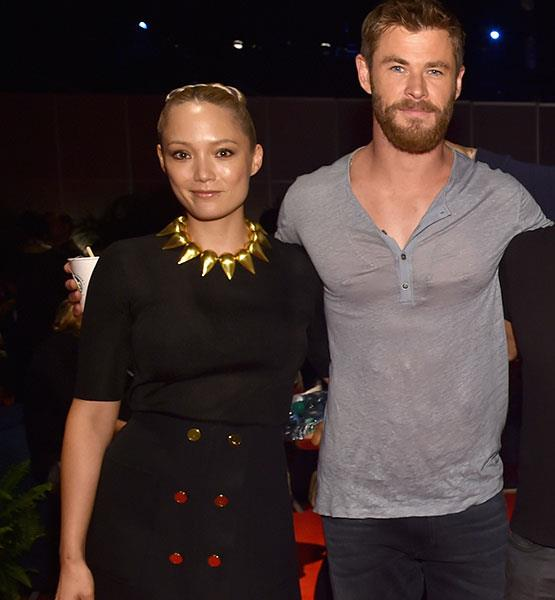Pom and Chris go way back – they've been in two *Avengers* movies together.