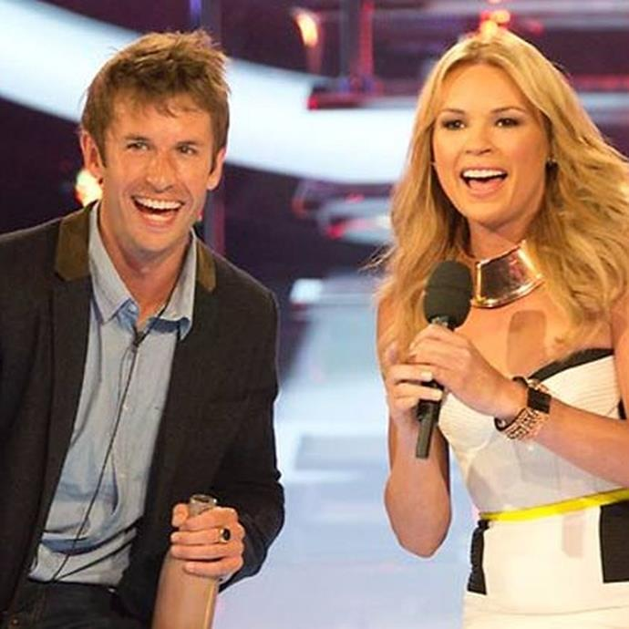 With Big Brother host Sonia Kruger in 2012.