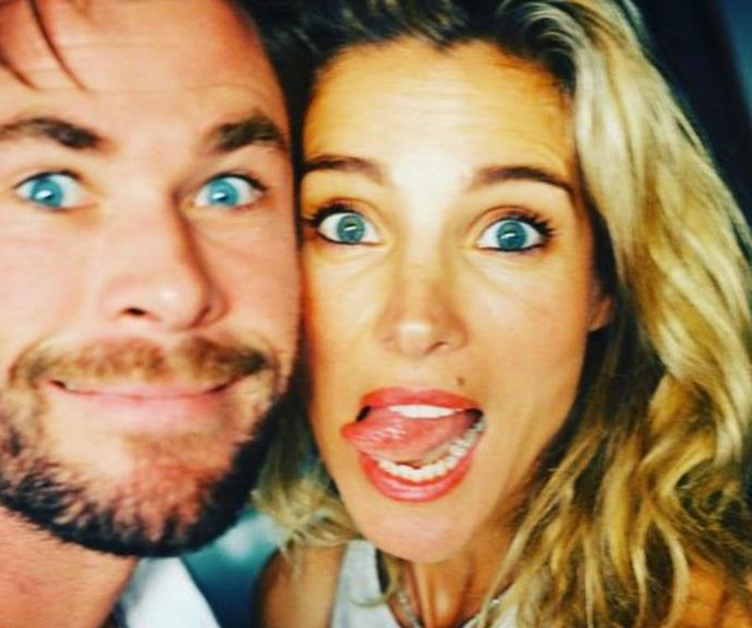 Blue-eyed lovers Chris Hemsworth and Elsa Pataky shared this loved-up selfie to mark the occasion.
