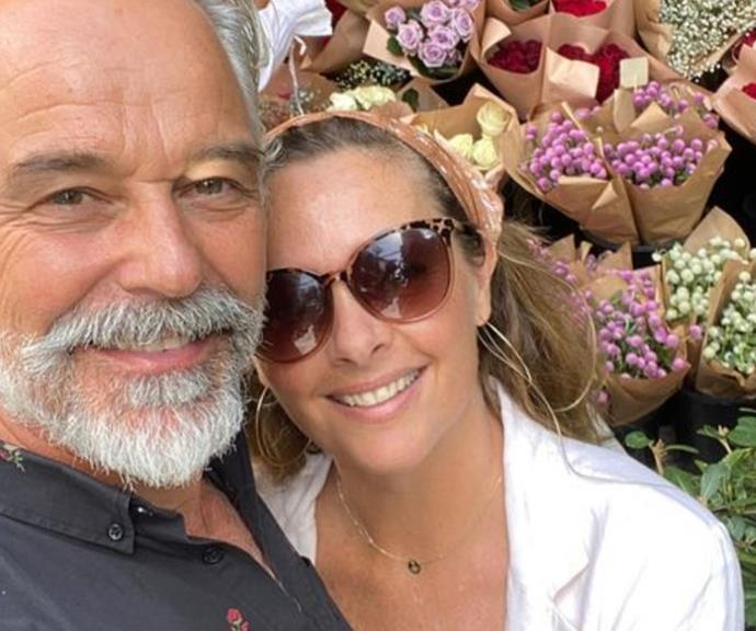 """My Valentine! #32 and another turn around the sun! ❤️❤️❤️ getting smarter, have a picture IN FRONT of flowers. 😊🤣,"" actor Cameron Daddo beamed alongside his wife Ali Daddo."
