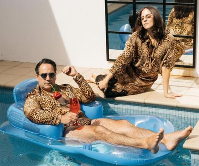 What's Valentine's Day without a shameless photoshoot? Radio star Wippa and his wife Lisa Wipfli went all out with their matching leopard print get-up and we're here for it.