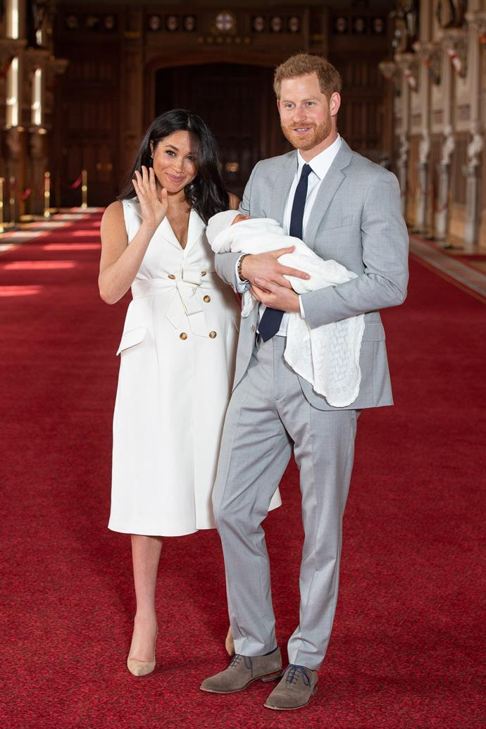 Meghan Markle's beautiful white dress was designed by British creative Grace Wales Bonner.