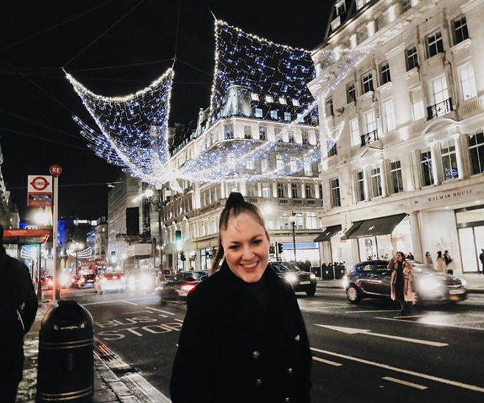 Sophie loved her time in London.