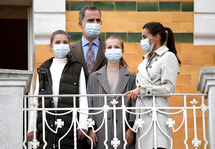 In October 2020, the Spanish royals stepped out for a visit to Somao. As the COVID-19 pandemic continued, the family masked up as per regulations and guidelines.
