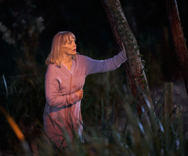 Martha is hallucinating that she's seeing - and speaking to - her son Kieran.