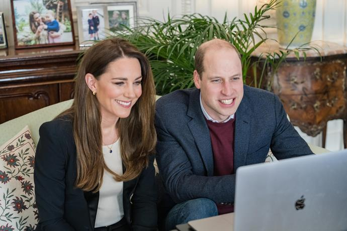 Duchess Catherine and Prince William have been busy supporting doctors, nurses and parents in a raft of video calls.